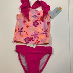 Girls 2 piece swimsuit  NWT Size 12 months